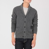 MERINO WOOL SHAWL COLLAR CARDIGAN | MUJI