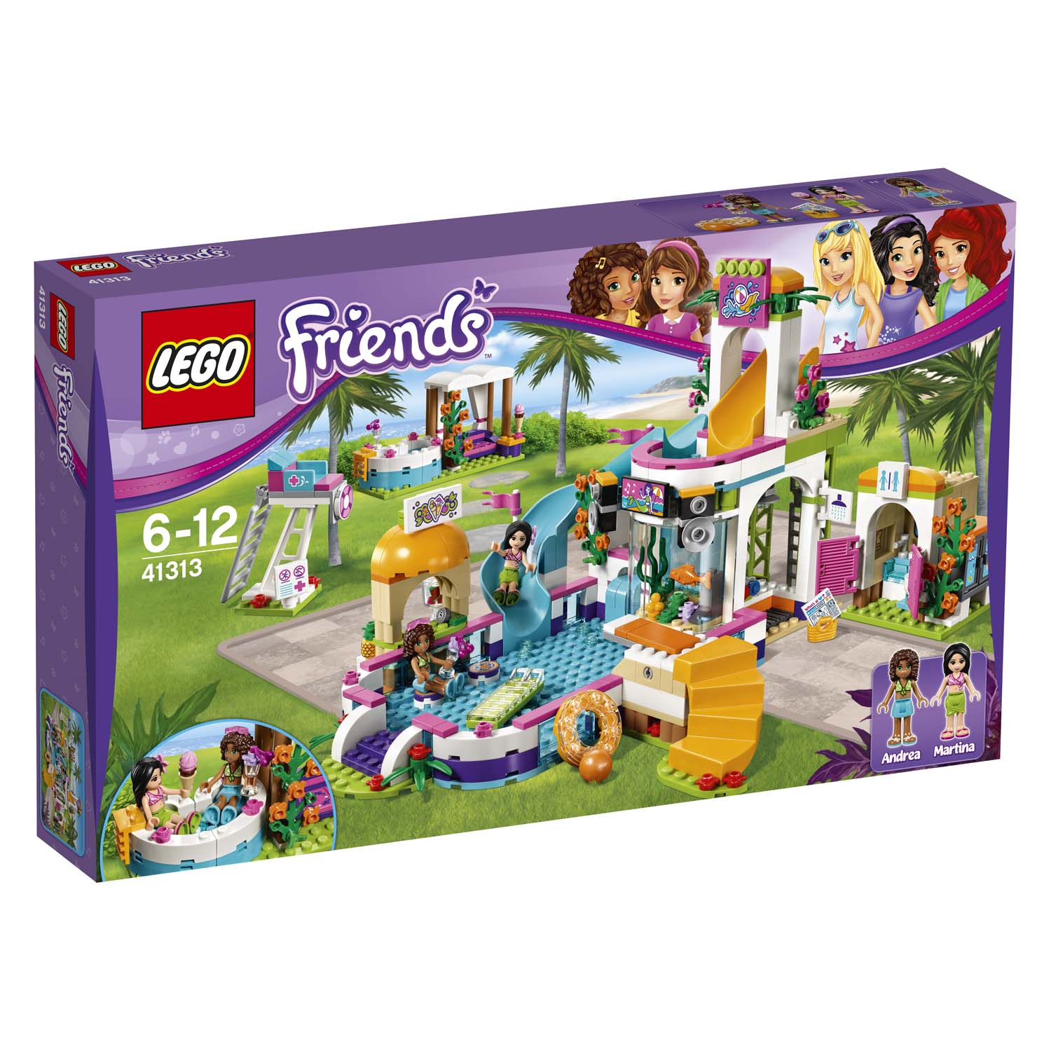 Lego Friends La Piscina Lego Friends La Piscina All 39aperto Di Heartlake 41313
