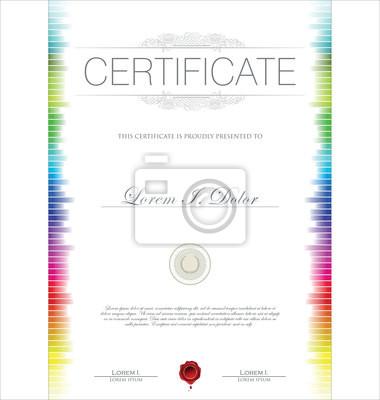 Modelo del certificado de colores pinturas para la pared \u2022 cuadros