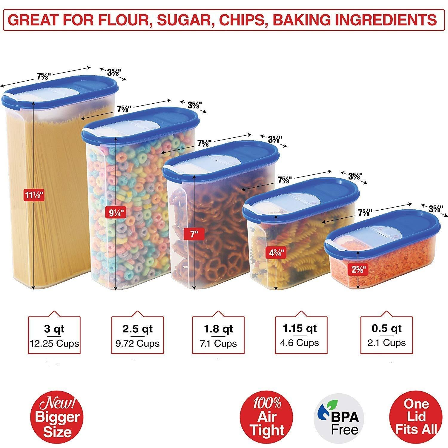 Food Storage Containers Set Stacko 10 Pc Set Airtight Dry Food Co Qsokhu