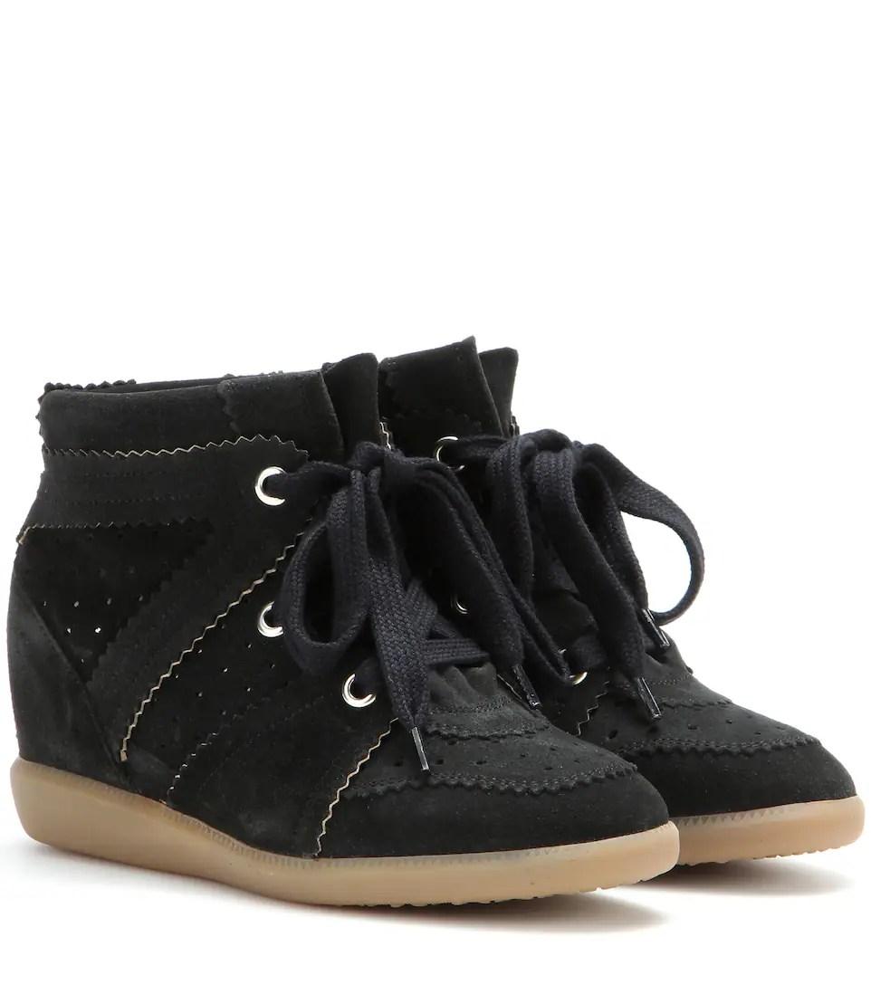 Isabel Marant Bobby Suede Wedge Sneakers Mytheresacom