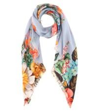 Gucci - Printed silk-twill scarf | mytheresa.com