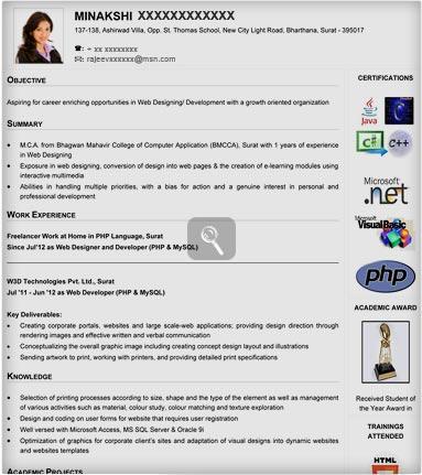 resume format for it freshers resume format for freshers sample