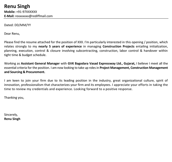 Job Application Letter Format Job Application Mail Sample - Naukri - Sample Of Covering Letter For Job Applications