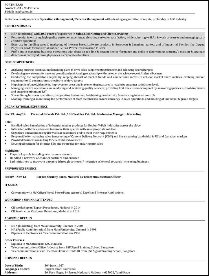 BPO Resume Samples Call Center Resume Sample Customer Service - sample of a customer service resume