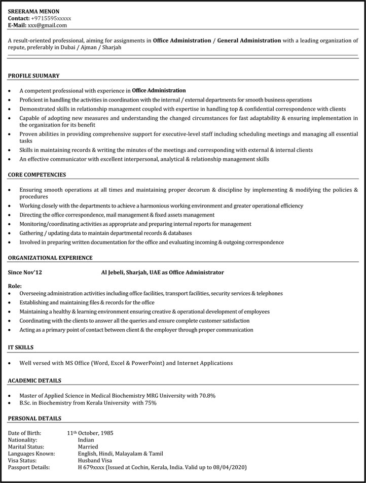Office Assistant Resume Sample Administrative Assistant Resume - Resume Examples For Office Assistant