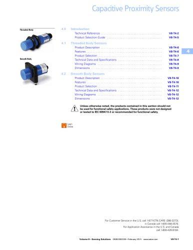 Capacitive proximity sensors - Eaton - PDF Catalogs Documentation