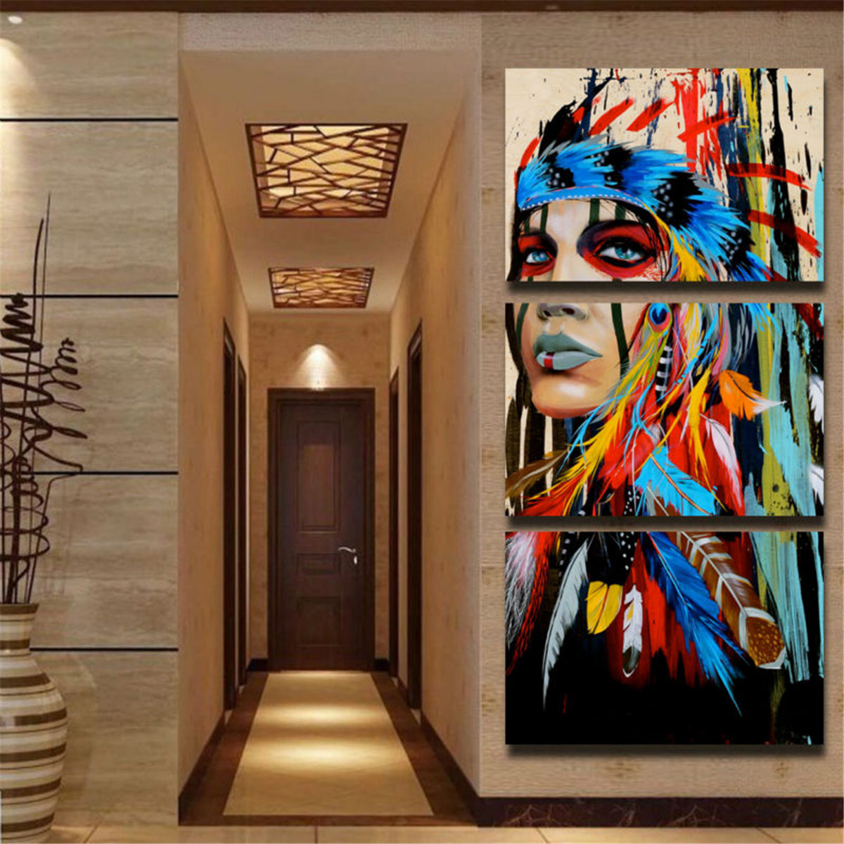 Home Decor Paintings 3pcs Modern Abstract Canvas Painting Frameless Wall Art