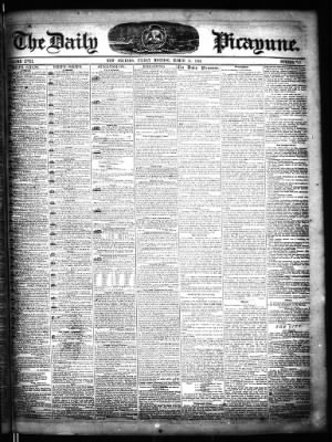 The Times-Picayune from New Orleans, Louisiana on March 31, 1854