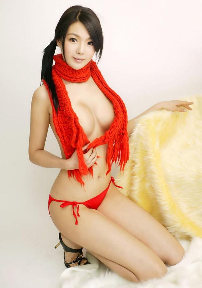 【ヌード画像】裸マフラーのエロさは異常w(30枚) 20