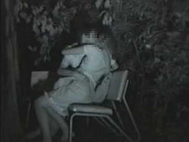 【ヌード画像】公園での素人SEXを赤外線盗撮した画像集!盗撮されようが蚊に刺されようがとにかくSEX!ww(50枚) 44