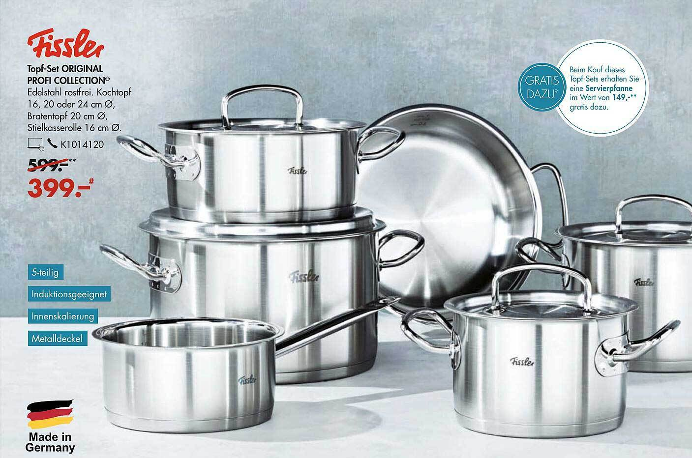 Fissler Topf Set Original Profi Collection Angebot Bei Galeria