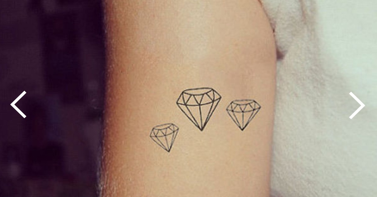 Tattoo Schmuck Diamant-tattoo: 20 Schöne Tattoo-ideen Zur Inspiration