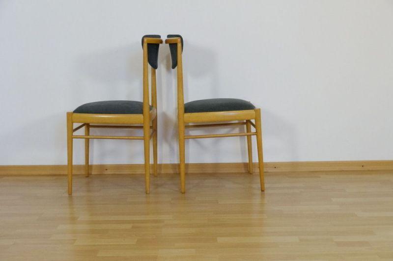 Elegant 2x Polsterstuhl Esszimmer Stuhl Buche Danish Design Vintage   Esszimmer 70er