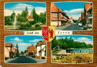 AK Zeven, Kirche, Stadtpark, Langestrasse, Schwimmbad Nr ...