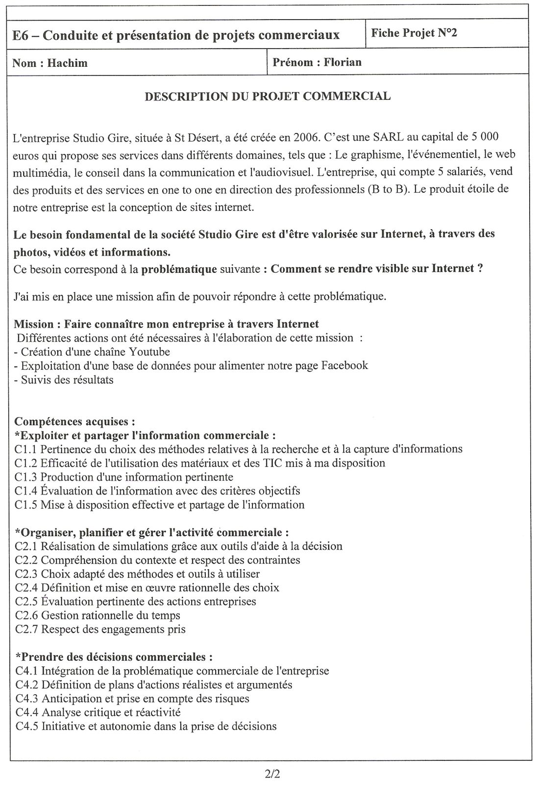 cv pour stage bts mecp
