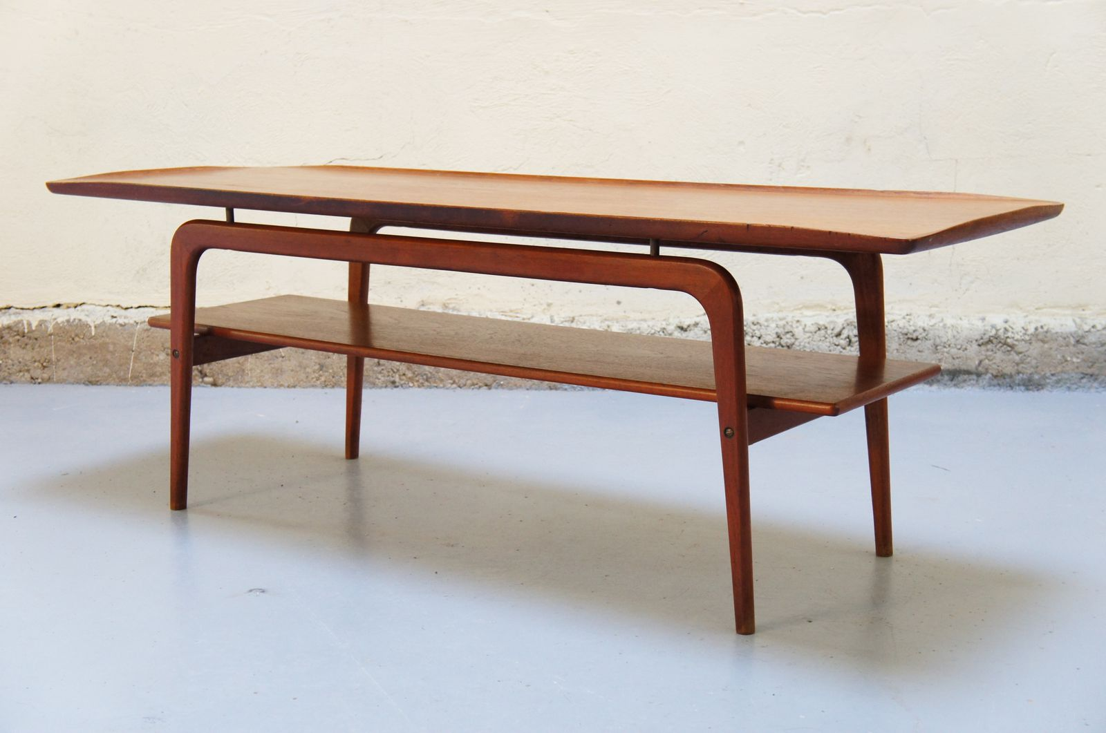 Grande Table Scandinave Vendu Table Basse Scandinave De Salon Teck Danois Années 50 60