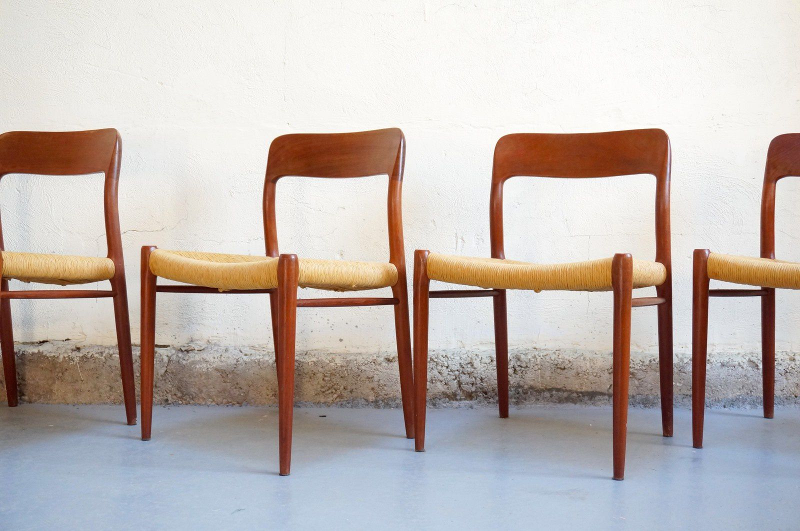 Chaises Scandinaves Vintage Chaises O Moller Design Scandinave Teck Massif Vintage