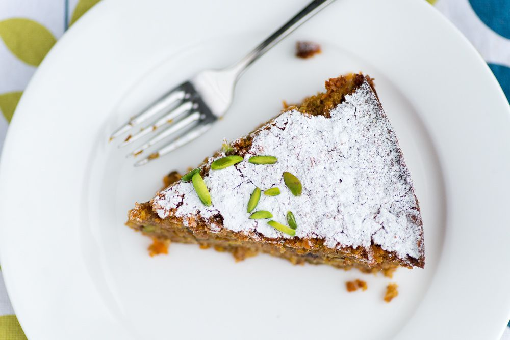 Sabrina Ghayour's Carrot, Pistachio & Coconut Cake - Mondomulia