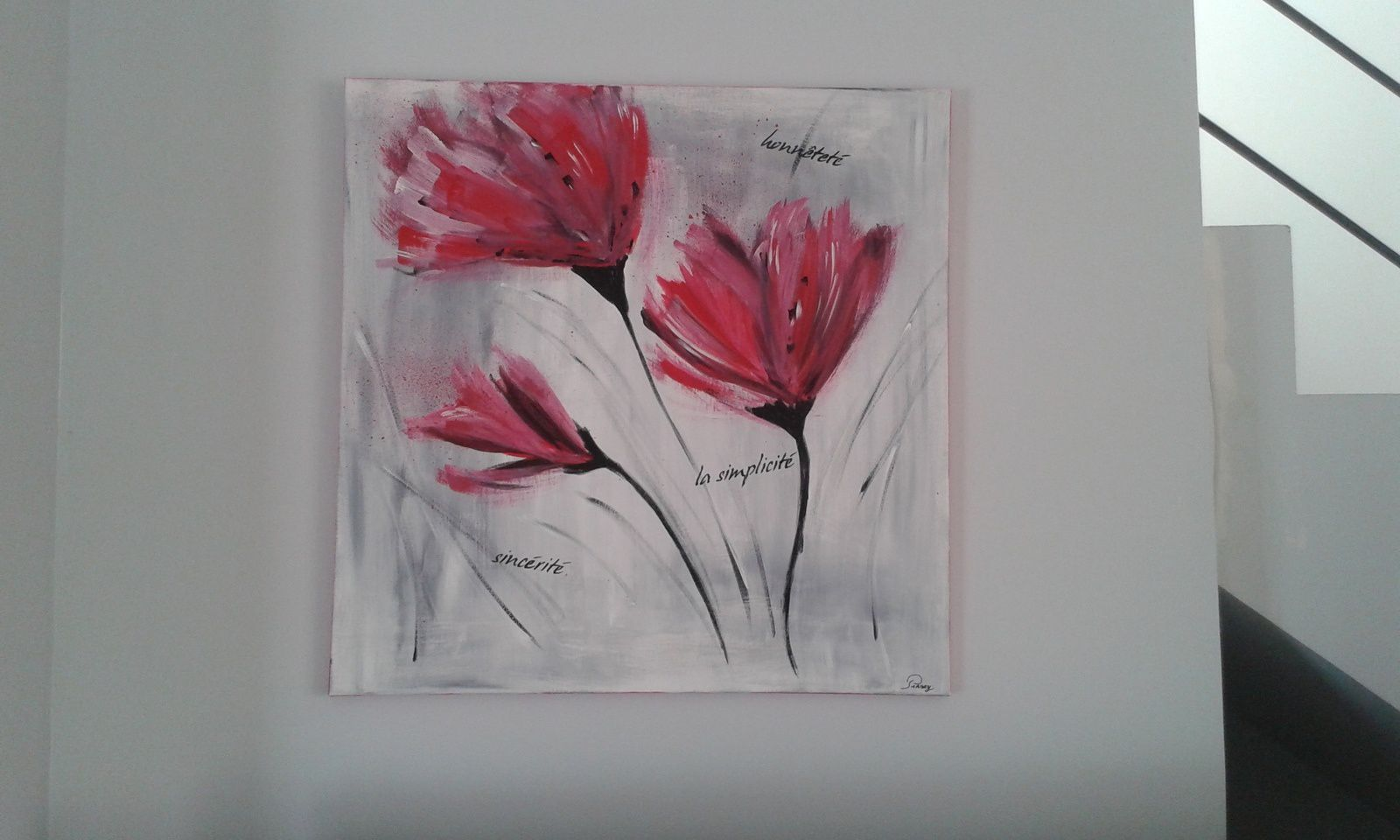 Tableau Home Deco Moderne Coquelicots Ideecrea Tableaux Modernes Mix Media Home