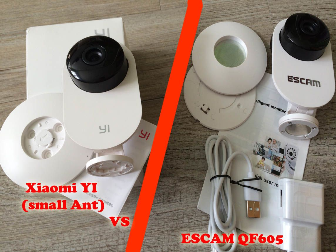 Camera Exterieur Facile A Installer Quotxiaomi Yi Quot Vs Quotescam Qf605 Quot 2 Cameras Ip Wifi Ultra