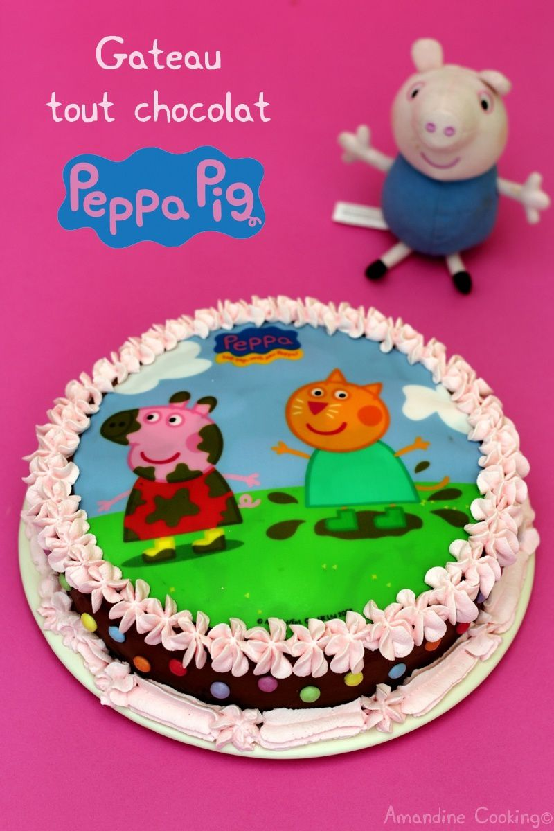 Idee Decoration Gateau Au Chocolat Gâteau D Anniversaire Au Chocolat Peppa Pig Amandine Cooking