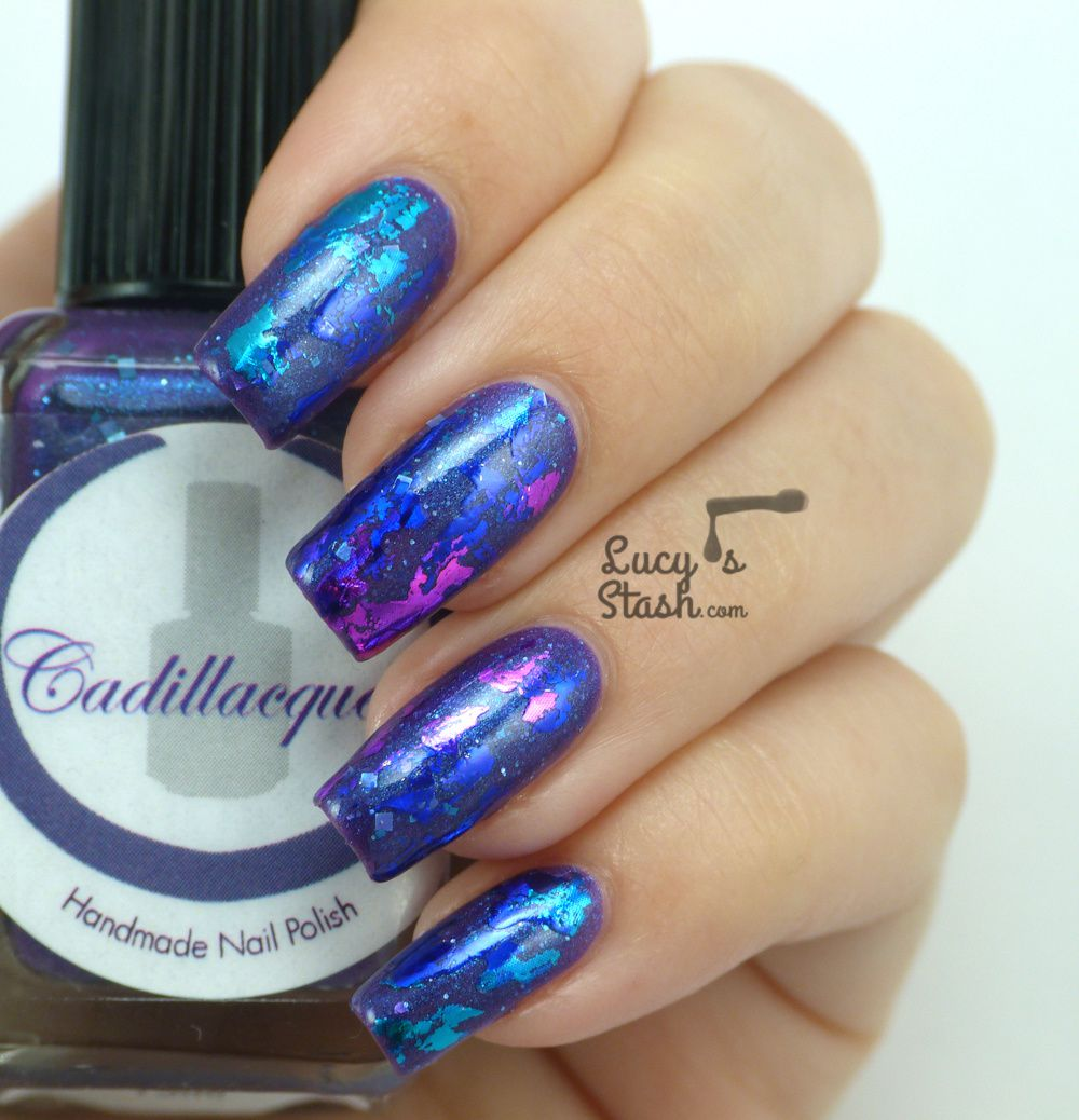 Abstract Nail Foil Design Feat Cadillacquer Lucy39s Stash
