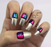 Colour Block Nail Art with Models Own Disco Pants ...