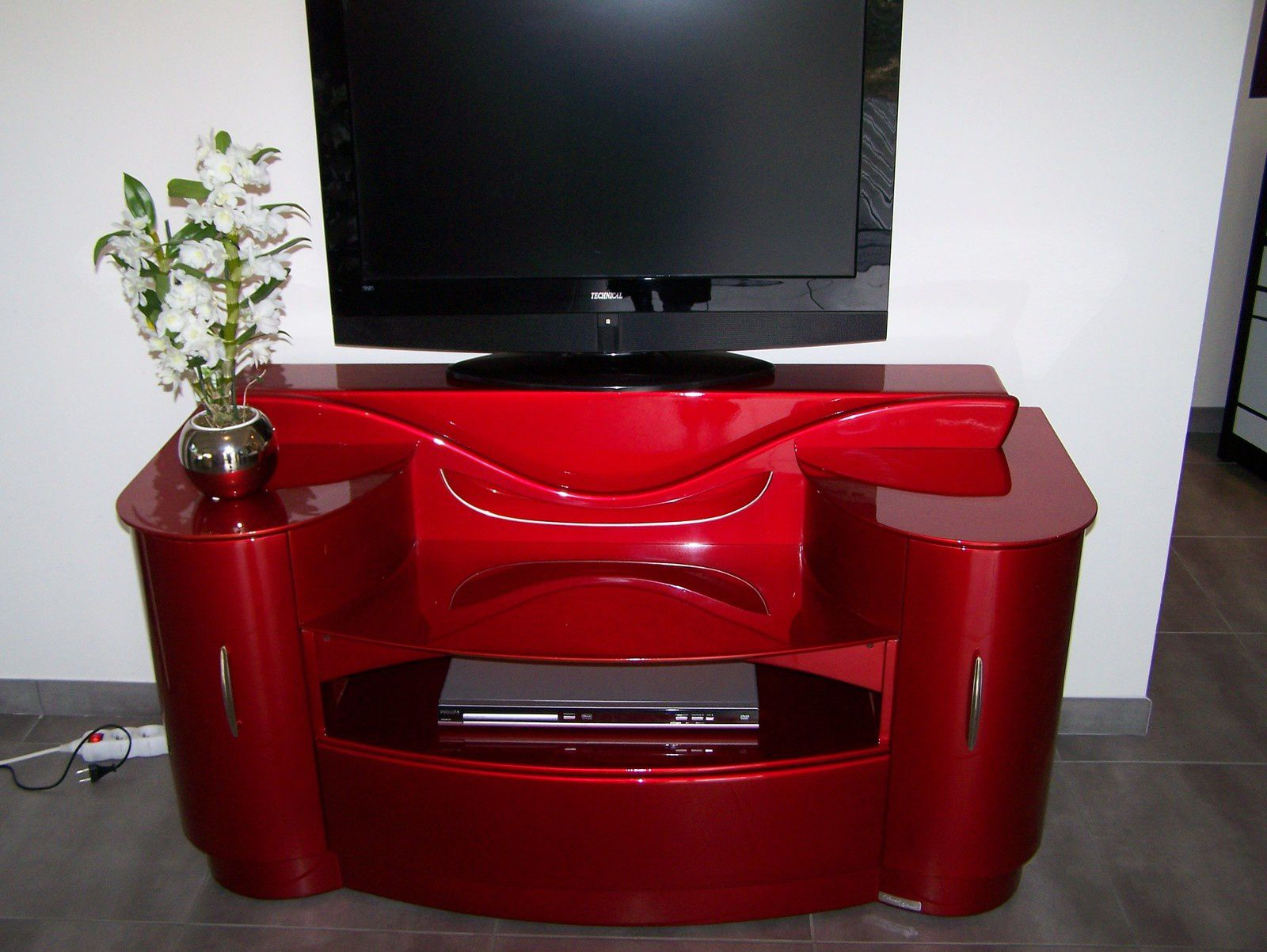 Coiffeuse Meuble Rouge Meuble Tv Art Deco Design Modern Davidglinel Over Blog