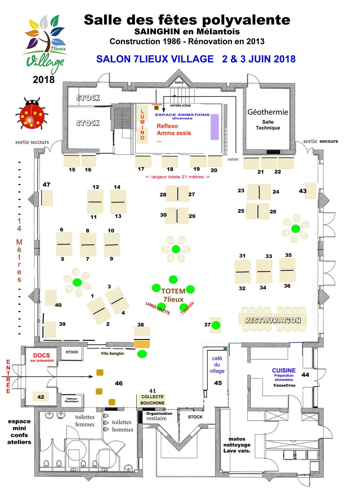 Salon Feng Shui Plan Plan Du Salon Et Exposants Le Salon 7lieux Village 2018 L
