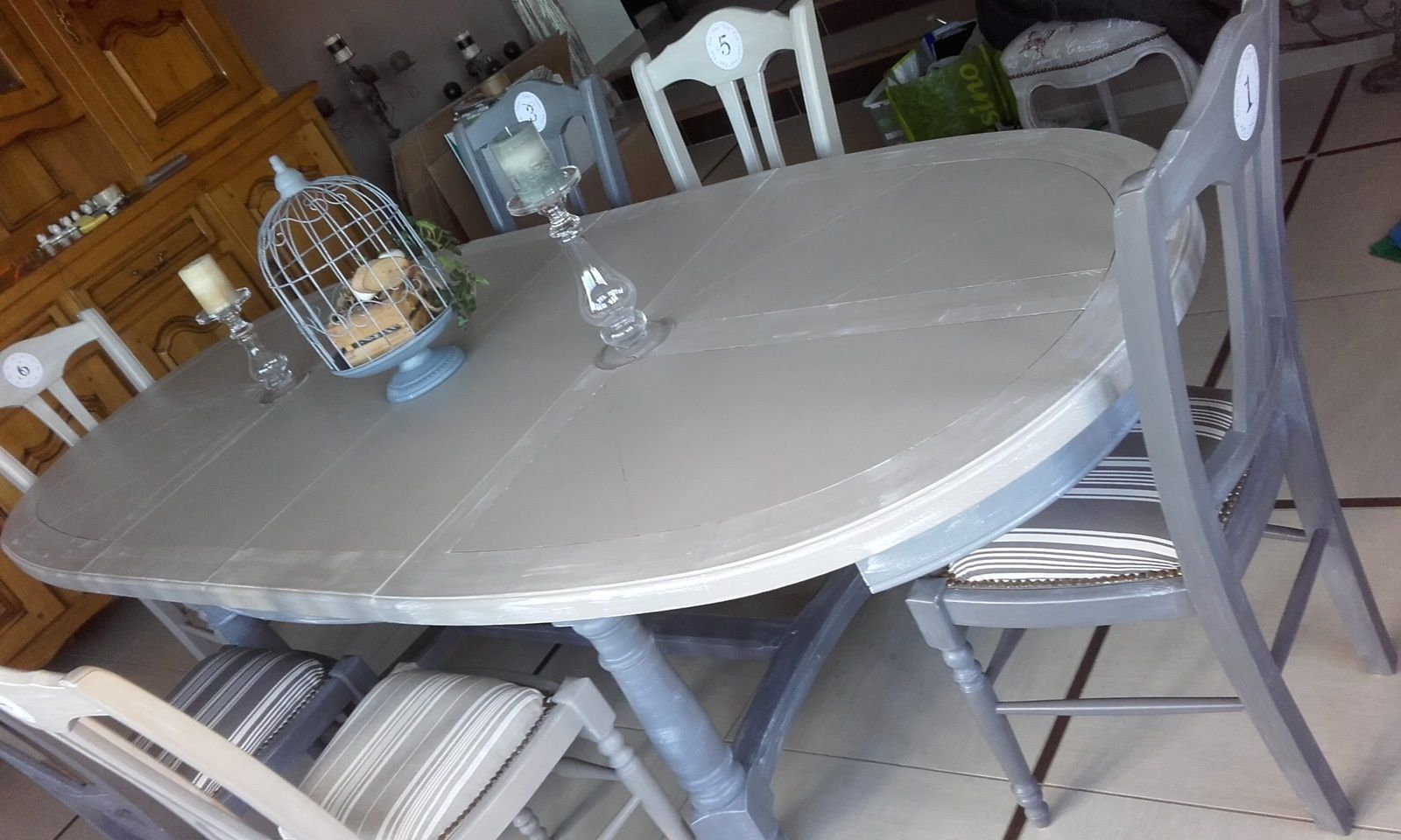 Table A Manger Gris Anthracite Table De Salle à Manger Couleur Taupe Et Gris Anthracite