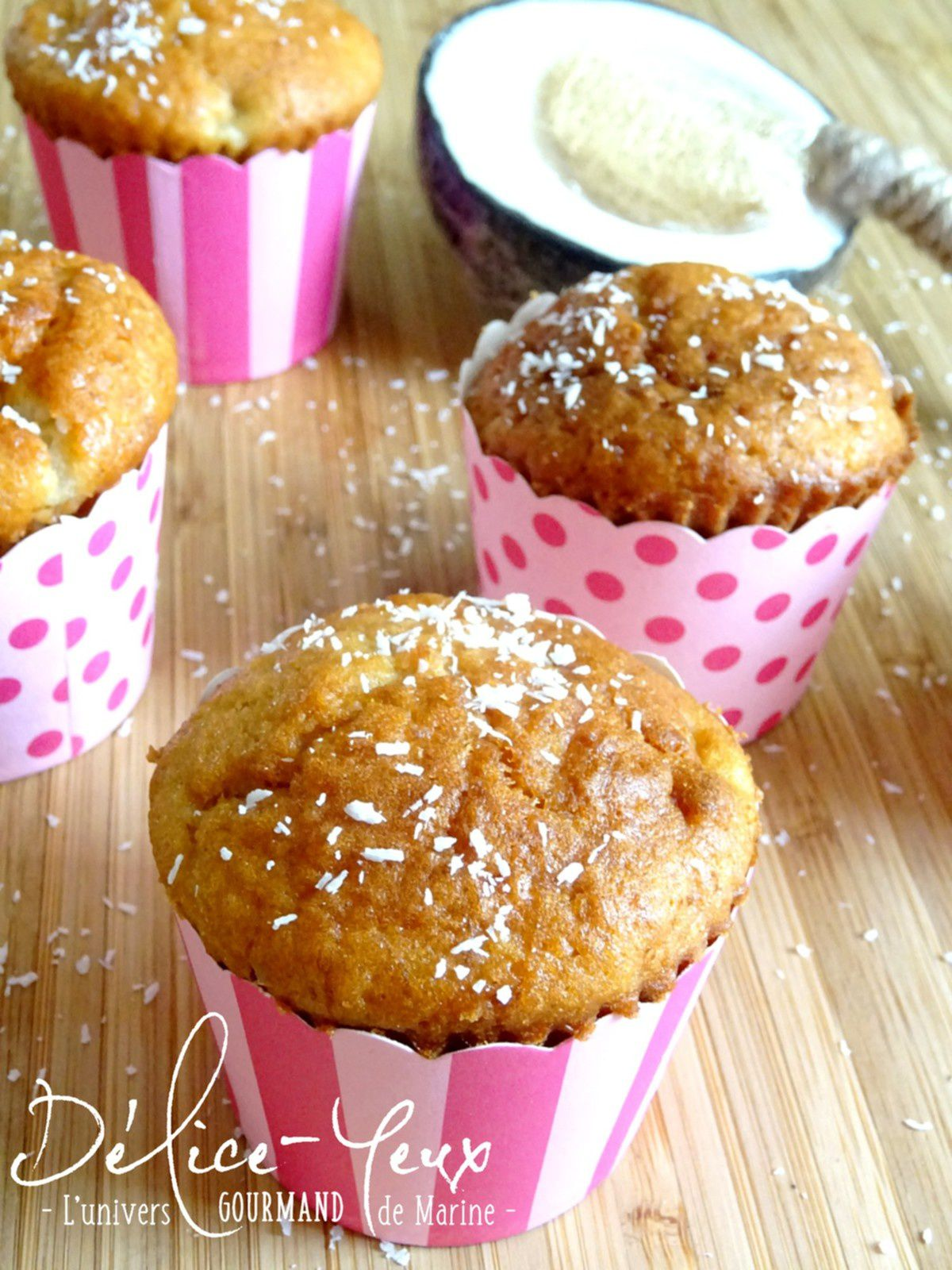 Muffins Kinder Country Muffins Banane Coco Délice Yeux L Univers Gourmand De