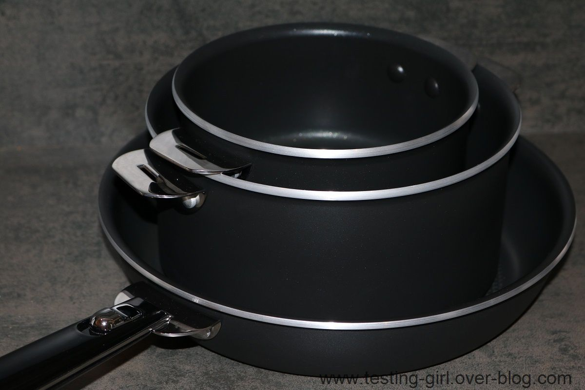 Ensemble Poele Induction Le Lot De 2 Casseroles Et 1 Poêle Amovible Salvaspazio