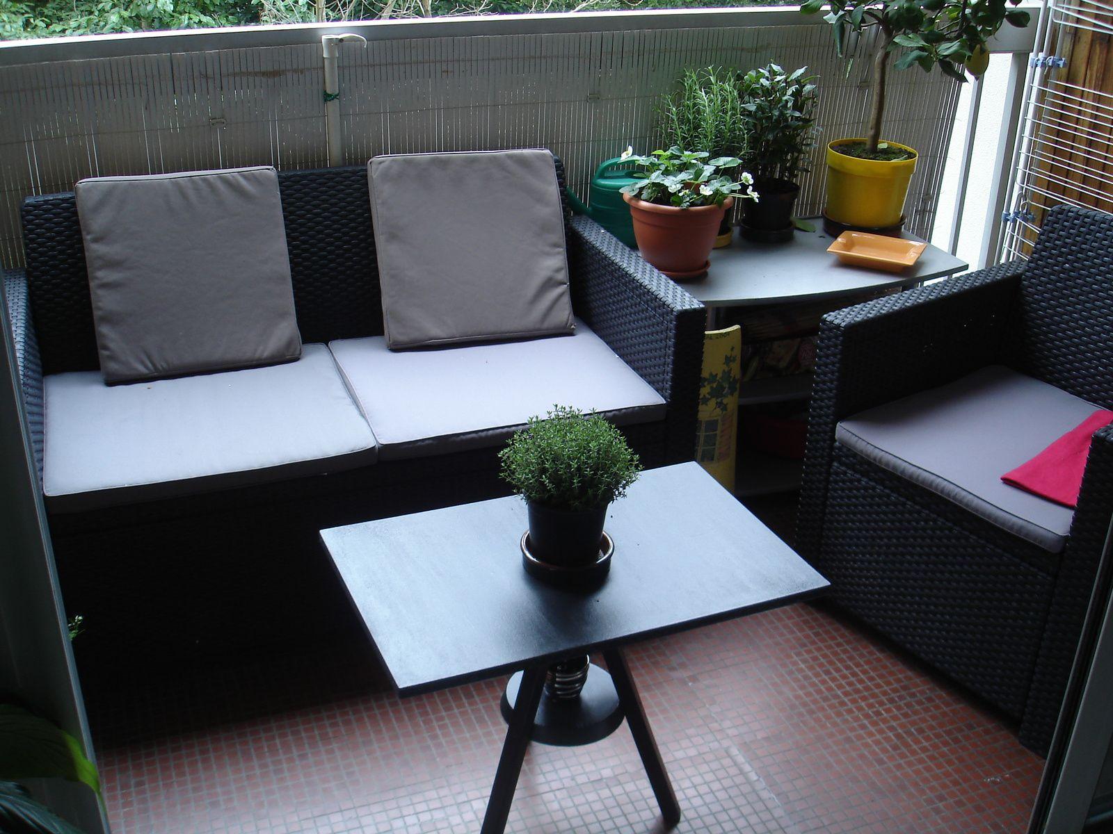 Mini Salon De Jardin Pour Balcon | Canap De Balcon Latest Tissu ...
