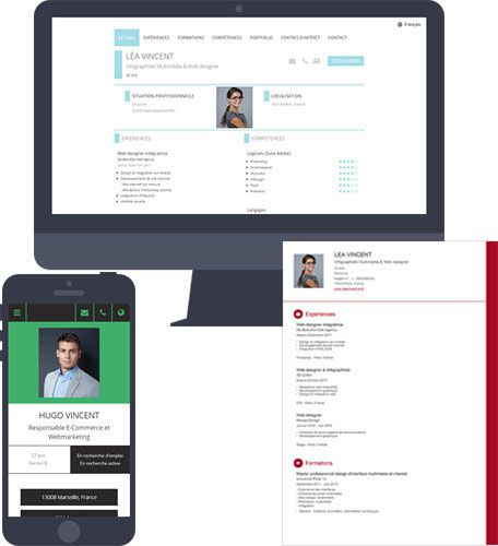 cv pdf interactif