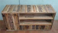 Meuble bas bois de palettes sur mesure - Tables de ...