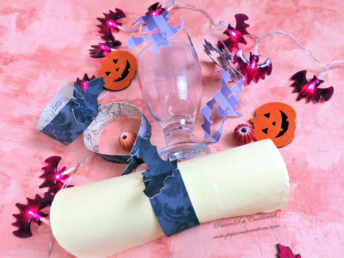 Serviette De Table Halloween Scan N Cut Une Décoration De Table Pour Halloween