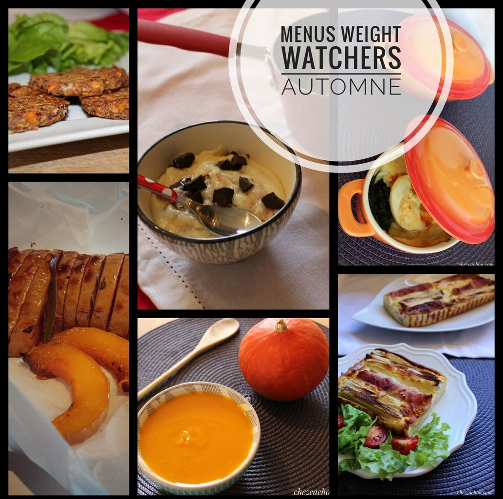 Plats Cuisinés Weight Watchers Prix Idées Menus Weight Watchers Automne Chezcachou