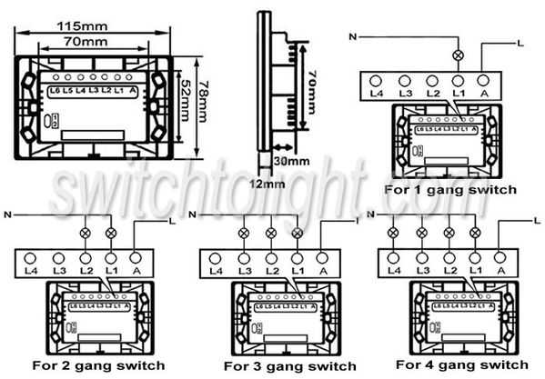 one way touch lamp switch wiring diagram