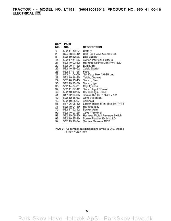 Husqvarna lt151 Service Manual