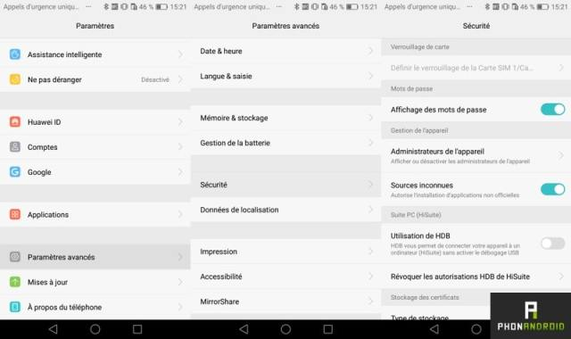 android apk sources inconnues