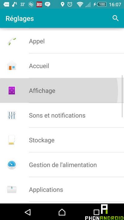 gerer stockage Android