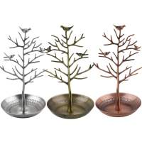 Retro Bird Tree Jewelry Earrings Ring Stand Holder Show ...