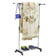 Straight Rack-Garment Clothes Clothing Laundry Hanger ...