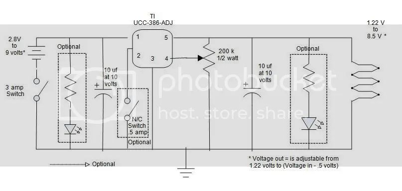 is the circuit schematic diagram for your variable voltage ecig mod