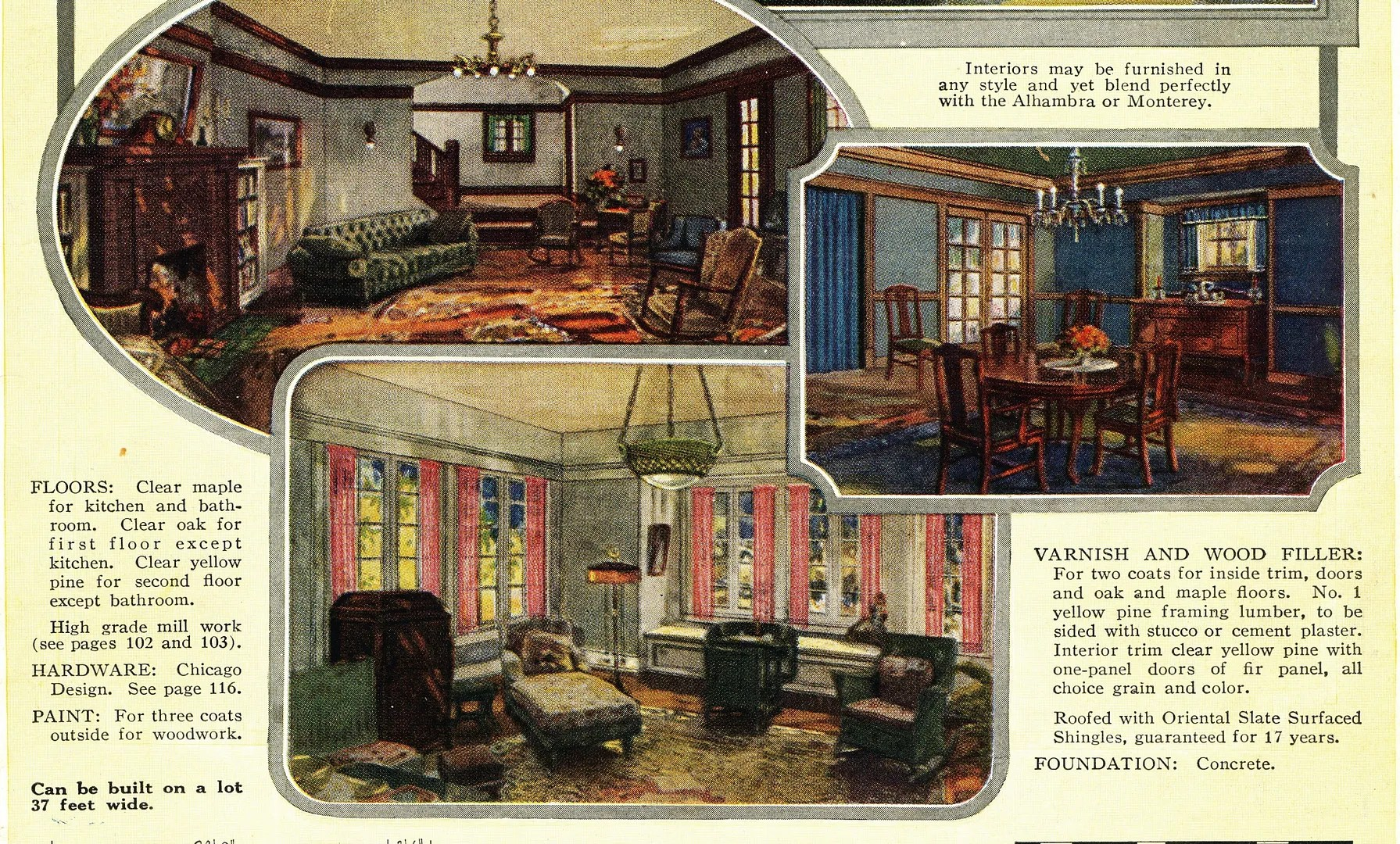 Houses By Sears Sears Modern Homes - sears curtains for living room