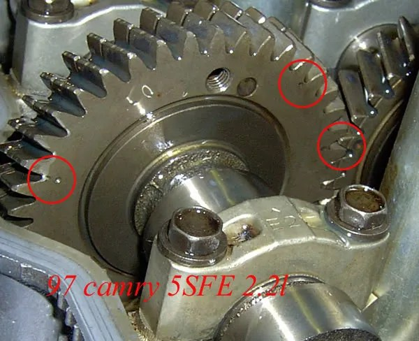 Camshft timing marks 5SFE - Toyota Nation Forum  Toyota Car and