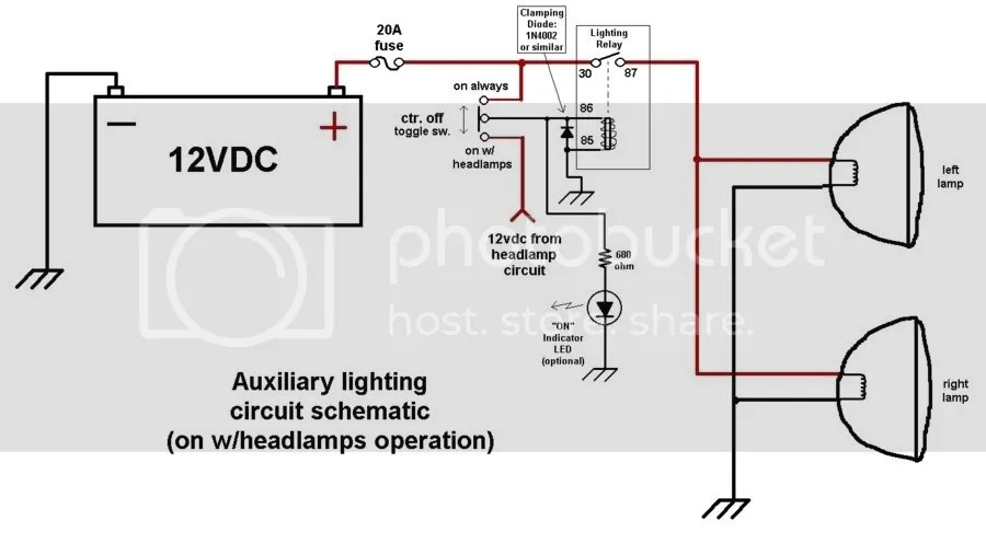 Wiring An Schematic From A Light circuit diagram template