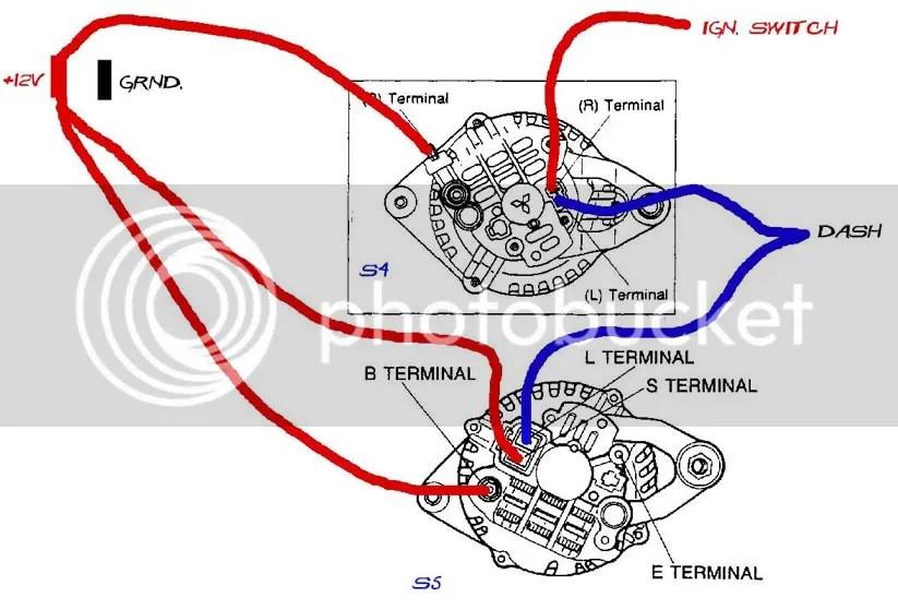 Mitsubishi Alternator Wiring Diagram Wiring Schematic Diagram