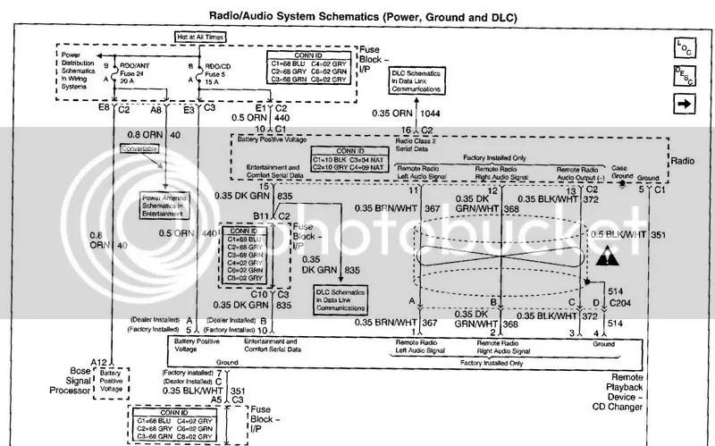 1999 c5 factory radio wire diagram - CorvetteForum - Chevrolet